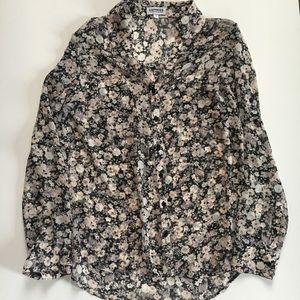 Express Floral Portofino blouse